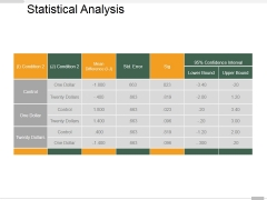 Statistical Analysis Template 2 Ppt PowerPoint Presentation Infographics Deck