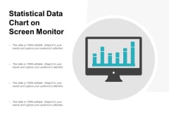 Statistical Data Chart On Screen Monitor Ppt PowerPoint Presentation Outline Summary