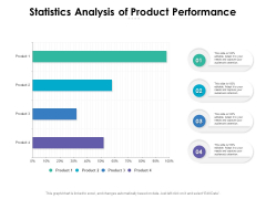 Statistics Analysis Of Product Performance Ppt PowerPoint Presentation Outline Demonstration