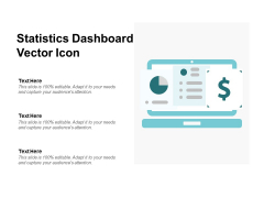 Statistics Dashboard Vector Icon Ppt PowerPoint Presentation Pictures Visual Aids