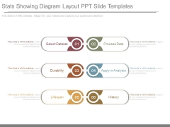 Stats Showing Diagram Layout Ppt Slide Templates
