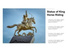 Statue Of King Horse Riding Ppt PowerPoint Presentation Portfolio Graphics Download