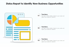 Status Report To Identify New Business Opportunities Ppt PowerPoint Presentation Icon Professional PDF