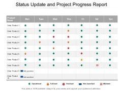 Status Update And Project Progress Report Ppt PowerPoint Presentation Styles Mockup