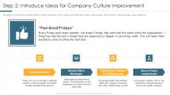 Step 2 Introduce Ideas For Company Culture Improvement Portrait PDF