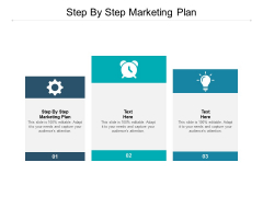 Step By Step Marketing Plan Ppt PowerPoint Presentation Topics Cpb
