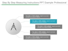 Step By Step Measuring Instructions Ppt Example Professional