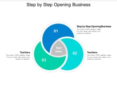 Step By Step Opening Business Ppt PowerPoint Presentation Professional Designs Download Cpb