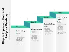Step To Implement Data And Analytics Roadmap Ppt PowerPoint Presentation Gallery Guidelines PDF
