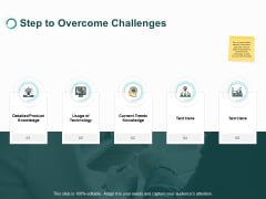 Step To Overcome Challenges Knowledge Ppt PowerPoint Presentation Slides Summary