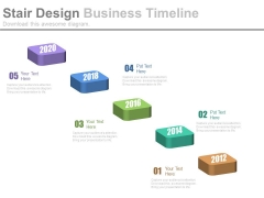 Stepping Stones Design For Business Timeline Powerpoint Slides