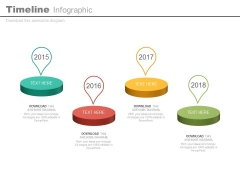 Stepping Stones Timeline Diagram For Business Powerpoint Slides