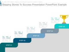 Stepping Stones To Success Presentation Powerpoint Example