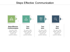 Steps Effective Communication Ppt PowerPoint Presentation Infographics Mockup Cpb