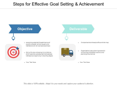 Steps For Effective Goal Setting And Achievement Ppt Powerpoint Presentation Gallery Summary