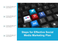 Steps For Effective Social Media Marketing Plan Ppt PowerPoint Presentation Infographic Template Images