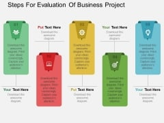 Steps For Evaluation Of Business Project Powerpoint Templates