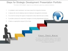 Steps For Strategic Development Presentation Portfolio