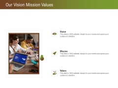 Steps For Successful Brand Building Process Our Vision Mission Values Ppt Infographics Pictures PDF