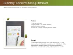 Steps For Successful Brand Building Process Summary Brand Positioning Statement Portrait PDF