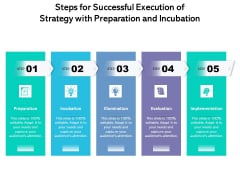 Steps For Successful Execution Of Strategy With Preparation And Incubation Ppt PowerPoint Presentation Gallery Guide PDF