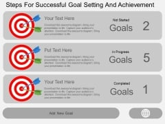 Steps For Successful Goal Setting And Achievement Powerpoint Template