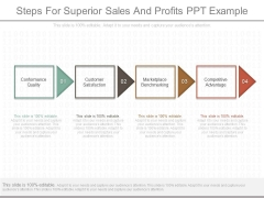 Steps For Superior Sales And Profits Ppt Example