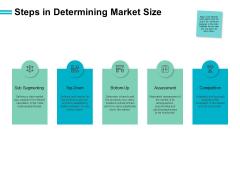 Steps In Determining Market Size Portfolio Ppt PowerPoint Presentation Model Icons