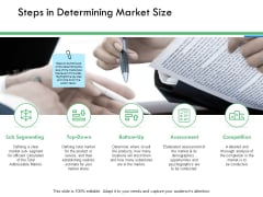 Steps In Determining Market Size Ppt PowerPoint Presentation Infographics Format Ideas