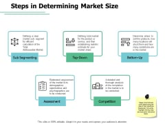 Steps In Determining Market Size Segmenting Ppt PowerPoint Presentation File Graphic Tips
