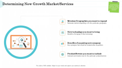 Steps In M And A Process Determining New Growth Market Services Sample PDF