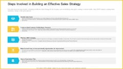 Steps Involved In Building An Effective Sales Strategy Inspiration PDF