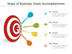 Steps Of Business Goals Accomplishment Ppt PowerPoint Presentation File Design Inspiration PDF