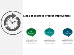 Steps Of Business Process Improvement Ppt PowerPoint Presentation Gallery Summary PDF