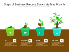 Steps Of Business Process Shown Via Tree Growth Ppt PowerPoint Presentation File Templates PDF