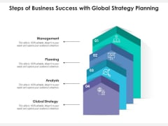Steps Of Business Success With Global Strategy Planning Ppt PowerPoint Presentation File Professional PDF