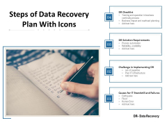 Steps Of Data Recovery Plan With Icons Ppt PowerPoint Presentation Gallery Example File PDF