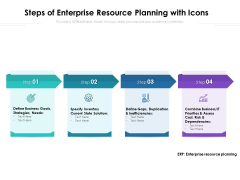Steps Of Enterprise Resource Planning With Icons Ppt PowerPoint Presentation File Design Inspiration PDF