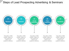 Steps Of Lead Prospecting Advertising And Seminars Ppt PowerPoint Presentation Inspiration Designs Download