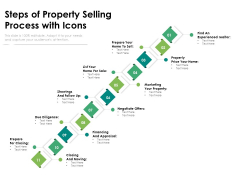 Steps Of Property Selling Process With Icons Ppt PowerPoint Presentation File Guide PDF