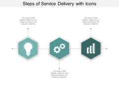 Steps Of Service Delivery With Icons Ppt Powerpoint Presentation Inspiration Summary