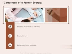 Steps Of Strategic Procurement Process Components Of A Partner Strategy Ppt Styles Example Topics PDF