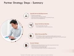 Steps Of Strategic Procurement Process Partner Strategy Steps Summary Ppt Show Guide PDF
