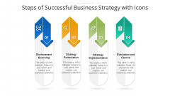 Steps Of Successful Business Strategy With Icons Ppt PowerPoint Presentation File Influencers PDF
