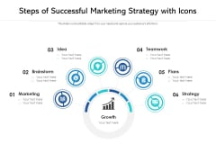 Steps Of Successful Marketing Strategy With Icons Ppt PowerPoint Presentation File Background Images PDF