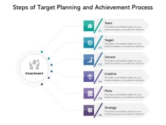 Steps Of Target Planning And Achievement Process Ppt PowerPoint Presentation File Inspiration PDF