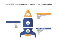 Steps Of Technology Innovation With Launch And Acceleration Ppt PowerPoint Presentation Gallery Example File PDF