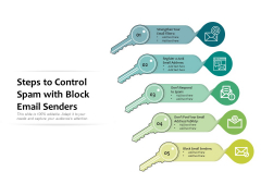 Steps To Control Spam With Block Email Senders Ppt PowerPoint Presentation Gallery Graphics Template PDF
