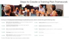 Steps To Create A Training Plan Framework Ppt Show Background Images PDF
