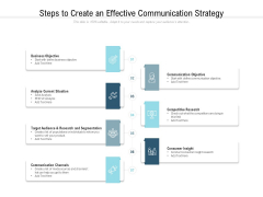 Steps To Create An Effective Communication Strategy Ppt PowerPoint Presentation Icon File Formats
